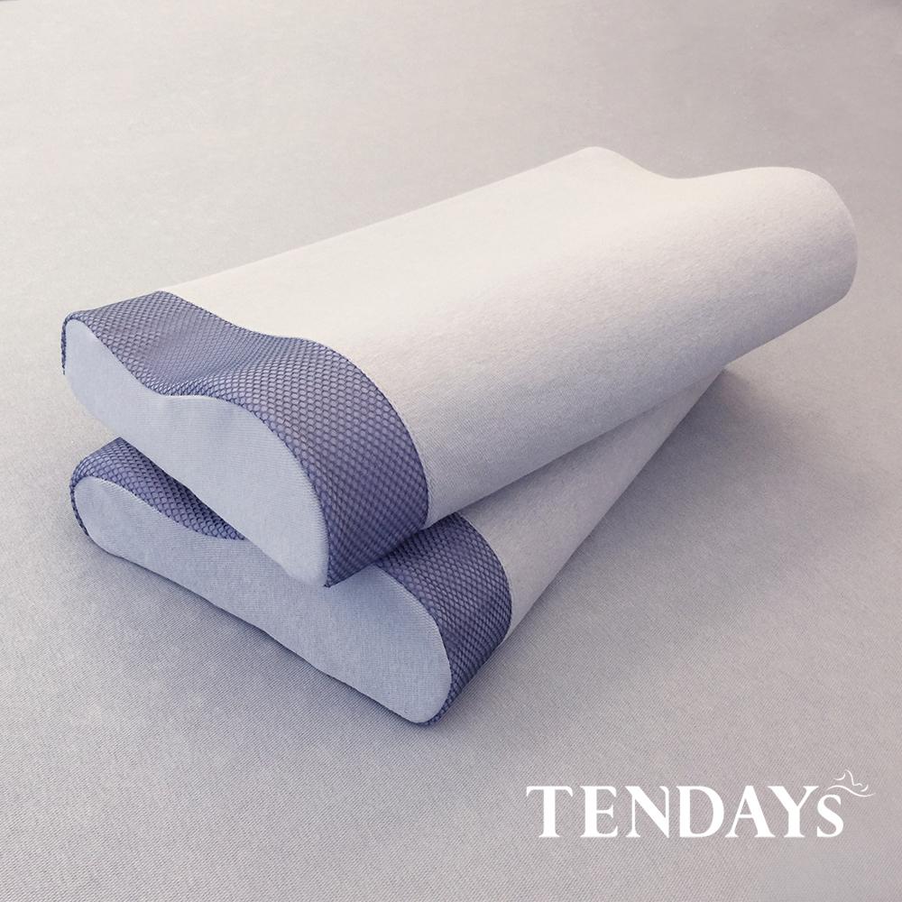 【TENDAYS】柔眠枕(文青藍)+太空幻象嬰兒護脊枕(親子推薦組)