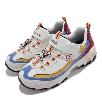 Skechers 休閒鞋 D LITES 4 海賊王 聯名 童鞋 One Piece 魯夫 航海王 魔鬼氈 白 黃 406102-LWMLT