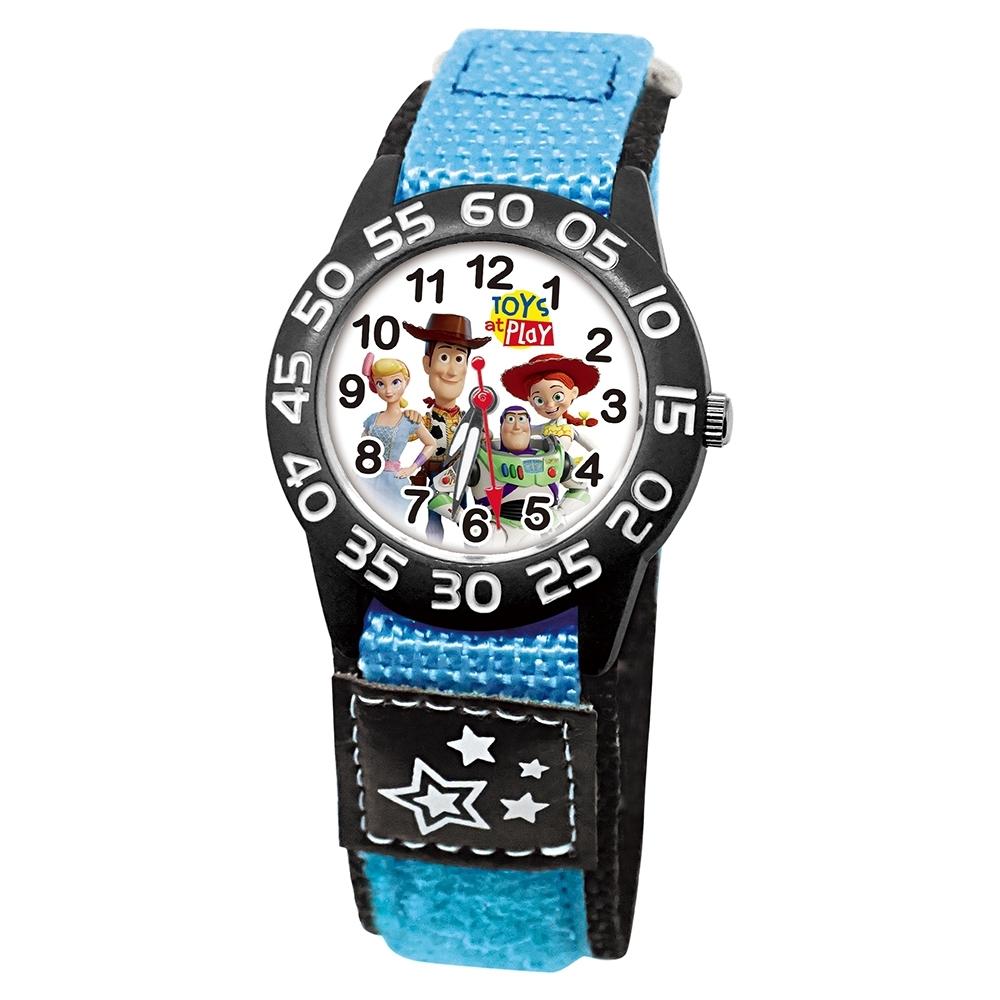 DF童趣館 - 玩具總動員輕量自黏帶休閒卡通童錶-共6色