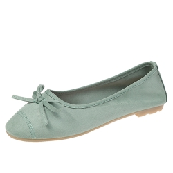 KEITH-WILL時尚鞋館 甜美玩色彈力豆豆鞋-綠色