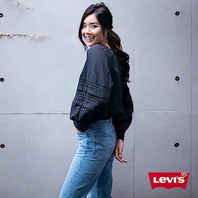 Levis 女款 Ribcage 高腰排釦直筒牛仔褲 膝蓋開口破壞 及踝款