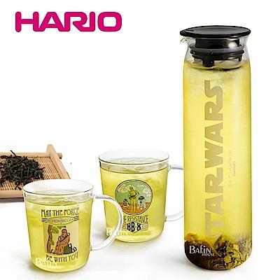 HARIO 星際大戰 耐熱玻璃冷泡茶具組(1壺2杯)