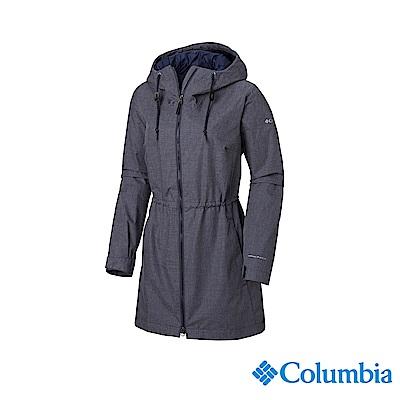 Columbia 哥倫比亞 女款-OT防水長版外套-深藍 UWR01970NY