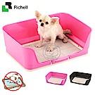 促銷Richell《犬用新式圍牆網狀便盆M號》64×47×19.5(cm)附防咬網