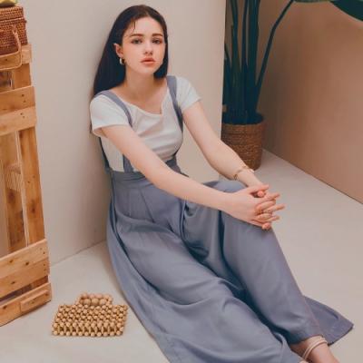 AIR SPACE LADY 3WAY輕柔褲裙(附腰帶)(藍)