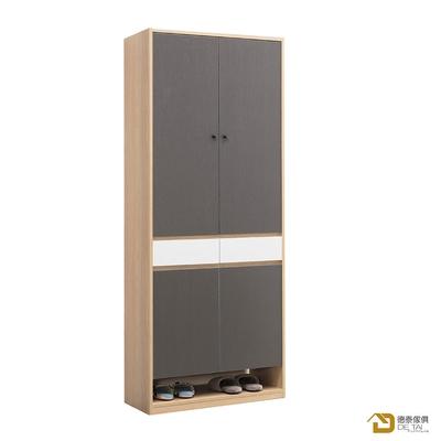 D&T 德泰傢俱 Buck原切色2.7X6.6尺高鞋櫃 寬80×深40×高201.5cm