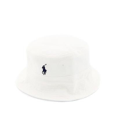 Polo Rlaph Lauren 年度熱銷經典時尚Logo漁夫帽-白色