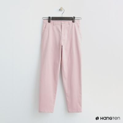 Hang Ten - 女裝 -簡約素面直筒褲 - 粉