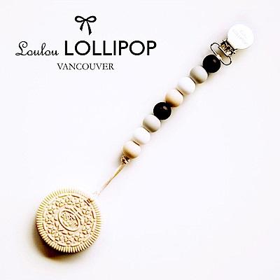加拿大Loulou lollipop嬰幼兒奶油餅乾系列 固齒器組/奶嘴鍊夾-時尚黑
