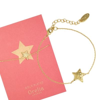 Orelia英國品牌 立體星星金錘金色手鍊