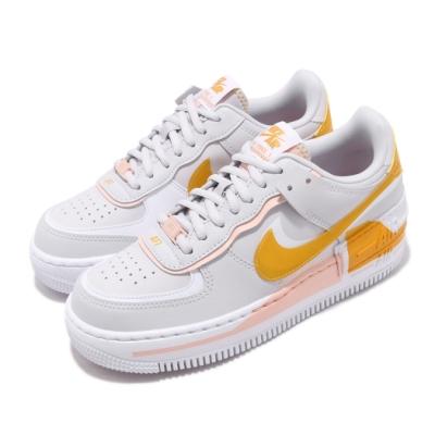 Nike 休閒鞋 AF1 Shadow 運動 女鞋 經典款 色塊 拼接 舒適 簡約 穿搭 灰 白 CQ9503001