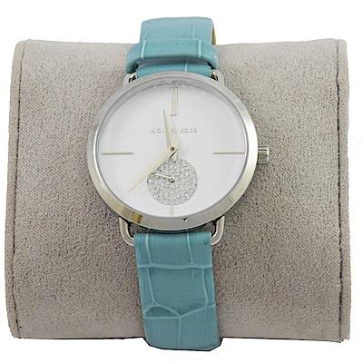 MICHAEL KORS 經典水鑽單眼手錶(湖水藍)