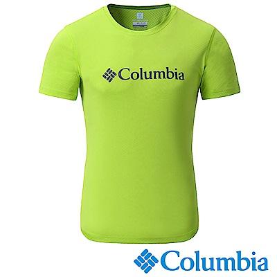 Columbia哥倫比亞 男-防曬30涼感快排短袖上衣蘋果綠-UAE64630AP