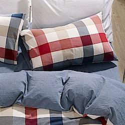 鴻宇 薄枕套2入 色織水洗棉 英格蘭 台灣製