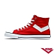 【PONY】Shooter系列高統經典復古帆布鞋 休閒鞋 女鞋 紅色 product thumbnail 1