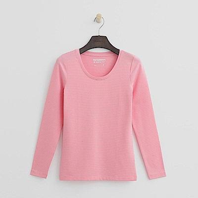 Hang Ten - 女裝-ThermoContro恆溫多功能智慧暖溫圓領上衣-粉色