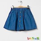 bossini女童-丹寧短裙淡藍