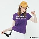 Hang Ten -女裝 - 有機棉-經典個性標語造型T - 紫