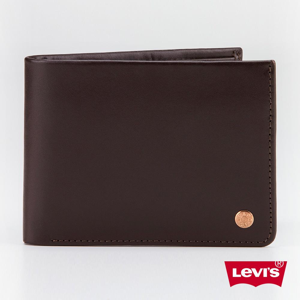 Levis 皮夾 男款 時尚棕