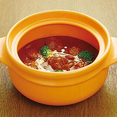 微波爐專用 耐熱陶炊飯鍋‧調理鍋(22cm)橘色