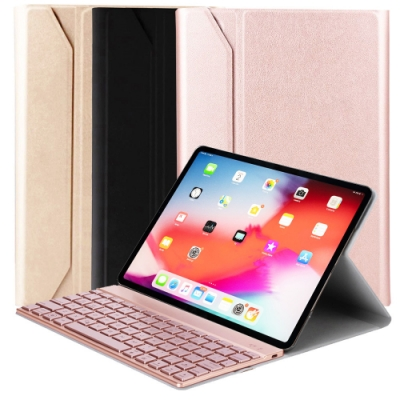 Powerway For iPad Pro11吋(一代/二代)專用尊榮型二代鋁合金超薄藍牙鍵盤/皮套