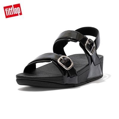 【FitFlop】LULU GLITTER ADJUSTABLE BACK-STRAP SANDALS 可調整式後帶涼鞋-女(靓黑色)