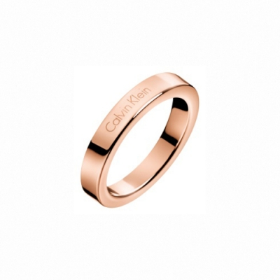 CALVIN KLEIN  Hook 系列純粹經典玫瑰金戒指-7