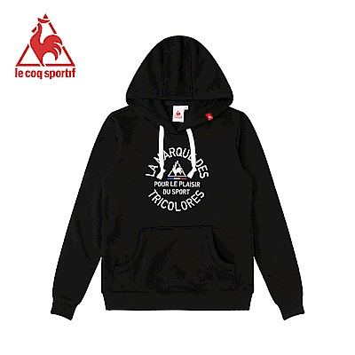 le coq sportif 法國公雞牌長袖連帽T恤 女-黑