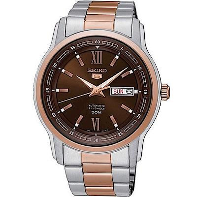 SEIKO精工/簡約5號羅馬造型機械腕錶/7S26-04T0KS SNKP18J1