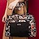 織帶托特手提包-法國玫瑰復刻印花 -經典黑 LiliO product thumbnail 1
