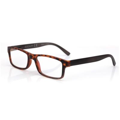 【 Z·ZOOM 】老花眼鏡/平光眼鏡 抗藍光防護系列 時尚矩形粗框款(豹紋色)