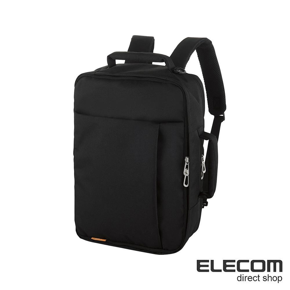 ELECOM 輕量防潑水3Way後背包SN03-黑