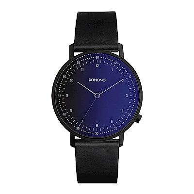 KOMONO Lewis Midnight 李維斯午夜系列腕錶-星空藍