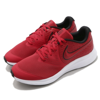 Nike 慢跑鞋 Star Runner 2 運動 女鞋 輕量 透氣 舒適 避震 球鞋 穿搭 紅 黑 AQ3542600
