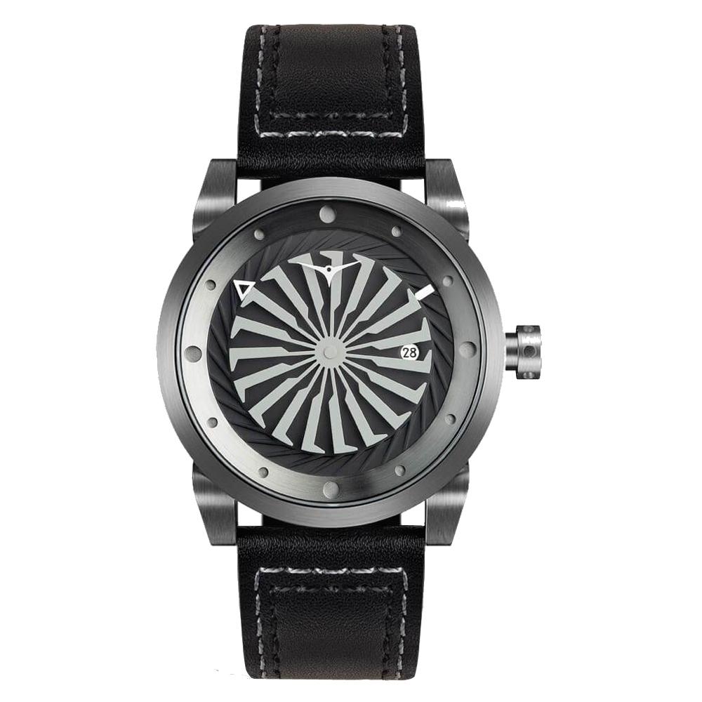 ZINVO 刀鋒戰士渦輪機械腕錶-黑(BGUNM)/44mm