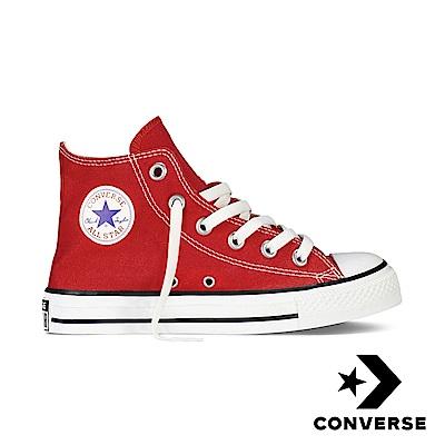Converse 中大童休閒鞋-3J232C 紅