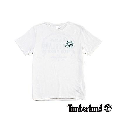Timberland 男款白色 LOGO T恤|A1NHH