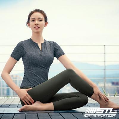 STL Leggings Seven Days 7 韓國 中低腰 運動瑜珈 拉提塑身緊身壓力褲 底色深卡其綠