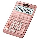 CASIO卡西歐12位數桌上型商用計算機-櫻花粉 JF-120FM-PK