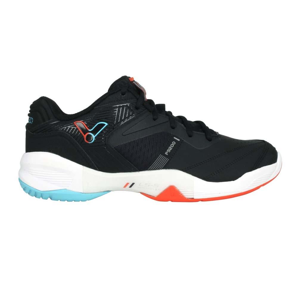 VICTOR 男女羽球鞋-訓練 運動 勝利 寬楦 3E 羽毛球 戴資穎 P9200CC-CA 黑橘藍
