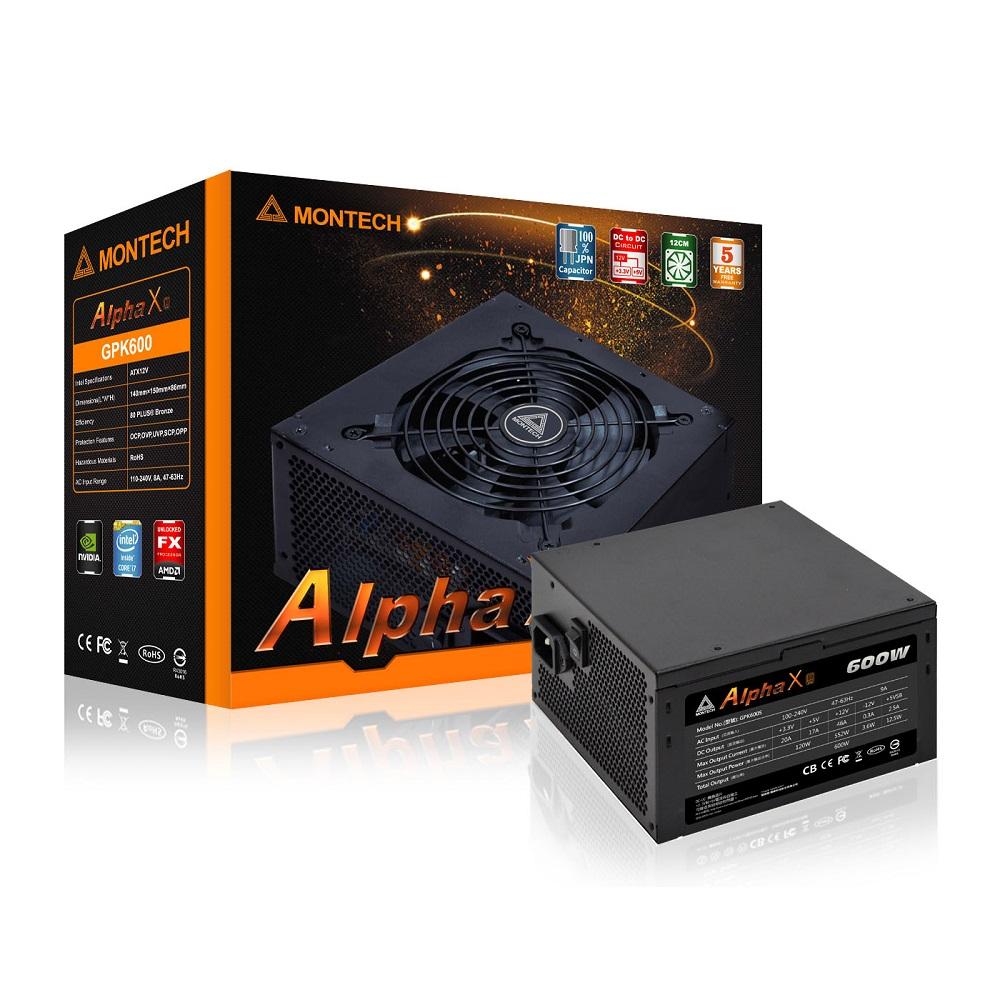 君主 ALPHA X 600W 80+銅牌 電源供應器