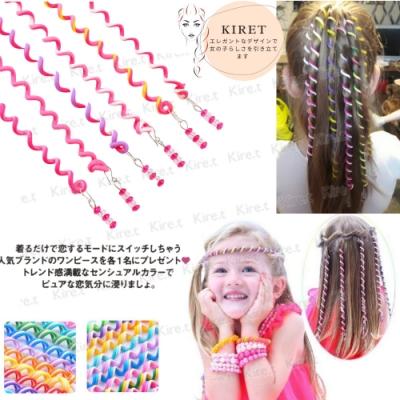 韓版懶人編髮神器 電話線綁辮子髮飾 可愛綁頭髮帶 親子兒童通用6入 (顏色任選) Kiret