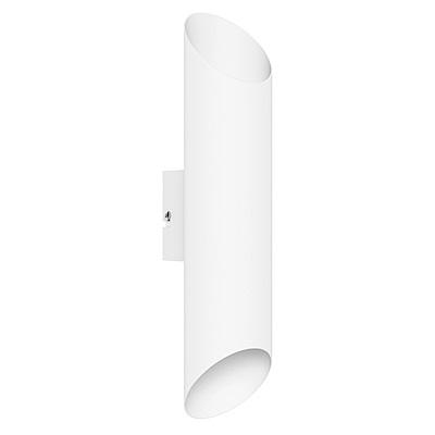 EGLO歐風燈飾 現代白LED圓筒壁燈/門牌燈