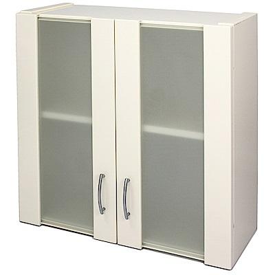Aaronation 噴砂玻璃塑鋼雙開門浴櫃 GU-C1021W