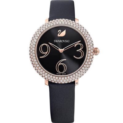 SWAROVSKI施華洛世奇 CRYSTAL FROST 璀璨時尚錶(5484058)-黑