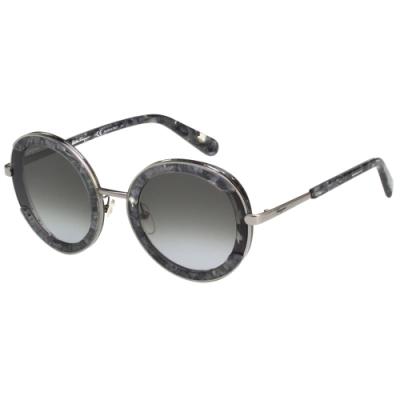 Salvatore Ferragamo 圓框 太陽眼鏡 (大理石色)