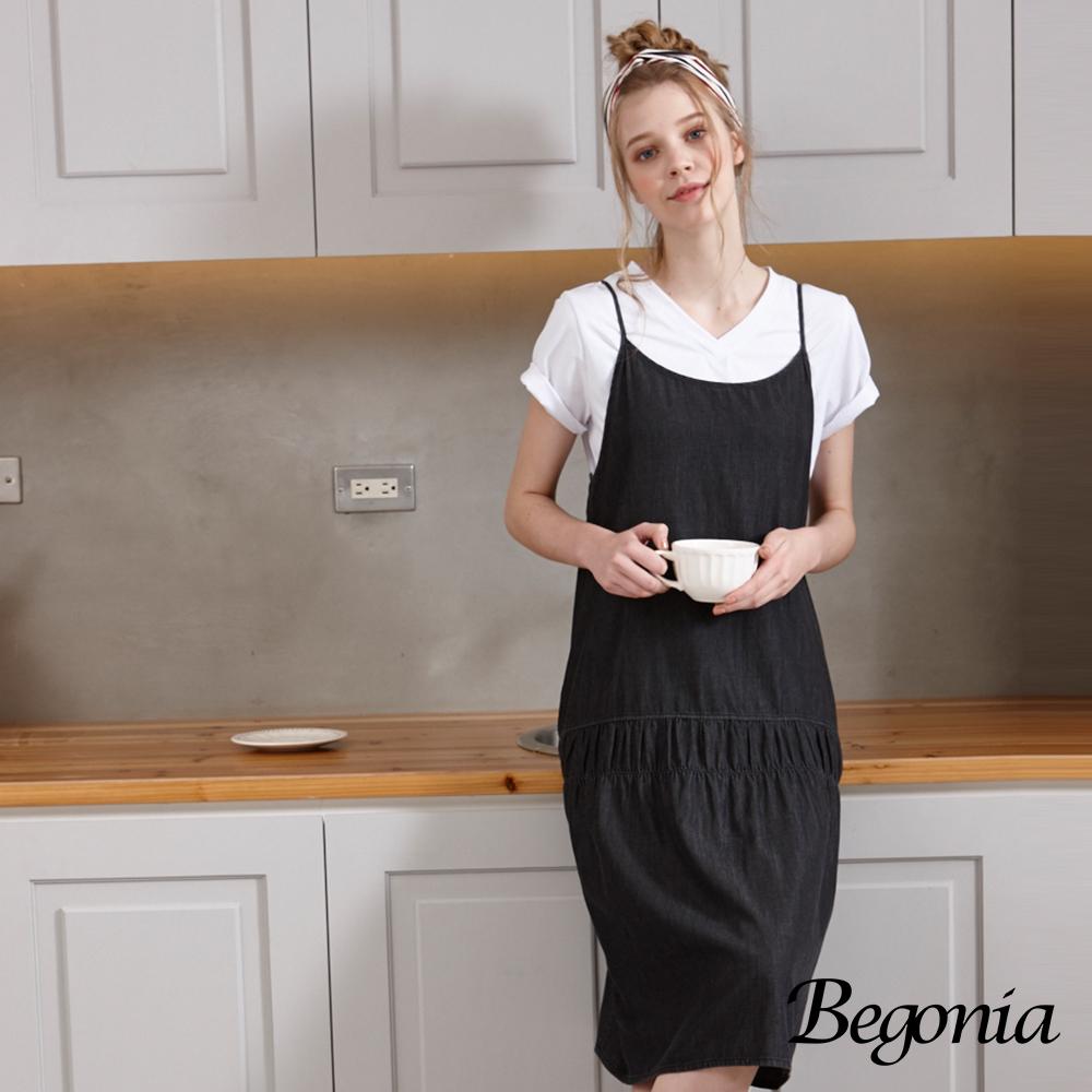 Begonia 低腰牛仔吊帶裙(共兩色)