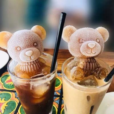 可愛動物造型矽膠冰模 (泰迪狗/編織熊/坐姿熊)