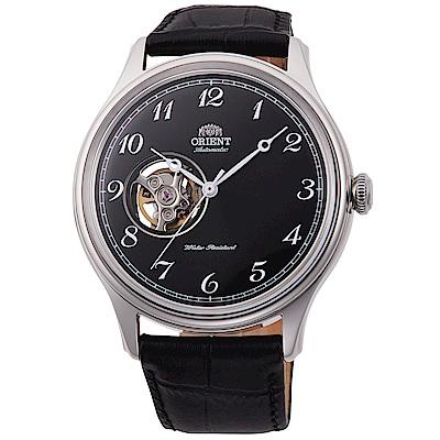 ORIENT東方錶 紳士醇黑鏤空自動機械錶(RA-AG0016B10B)-黑x43mm