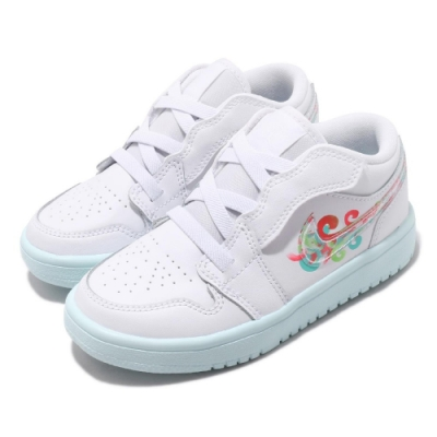 Nike 休閒鞋 Jordan 1 Low ALT 童鞋 喬丹 魔鬼氈 舒適 小童 穿搭 皮革 白 彩 CI3436184